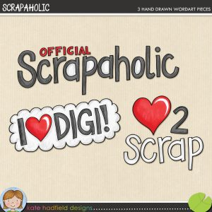 Scrapaholic freebie by Kate Hadfield